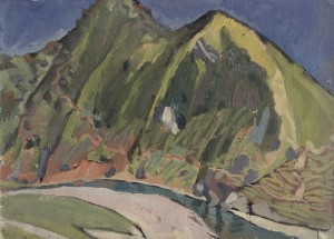 Mount Pudplesha, 1960, oil on cardboard, 40x55