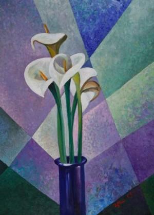 Calla Flowers', 2008, 80x60