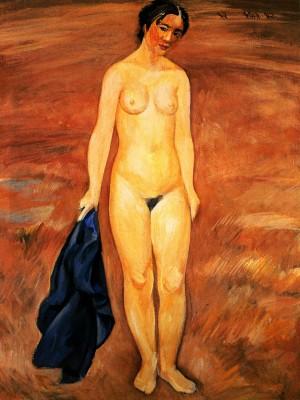Klamnytska Venus', 1973, tempera on canvas, 80x60