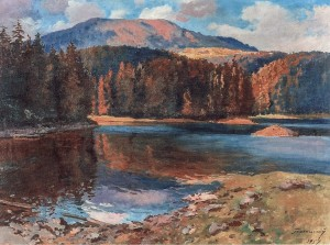 Mountain Lake, 1957, oil on canvas, 72x90