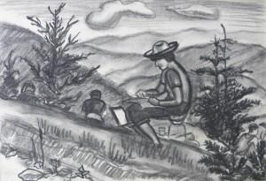 На зарисовках, 1983, пап. вуг., 31х44