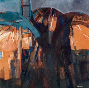 Tree. Unexpected Improvisation, 1993, oil on canvas, 80x80