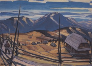 Hutsul Land, 1965, oil on canvas, 80x110