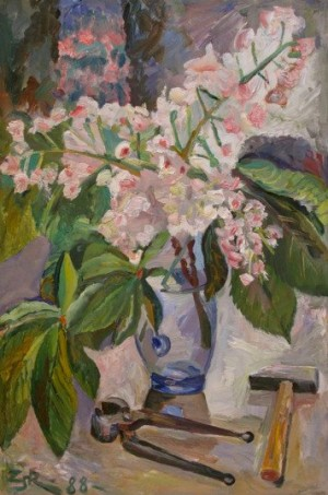 'Квітка каштану з кліщами', 1988, 74х52