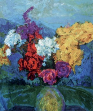 Still Life. Roses, 1970, oil on canvas, 42х58