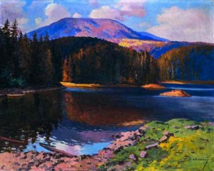 Mountain Landscape, Baltsatul Lake, the mid 20th century, oil on canvas, 72x91
