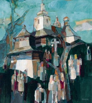 To The Church. Temple Holiday, 2008, oil on canvas, 90x80