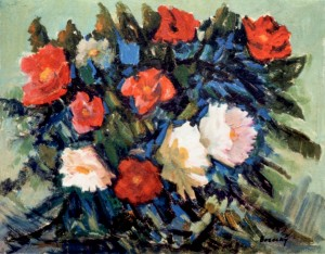 Still life. Poppies and Peonies, 1970, oil on cardboard, 54,5х69