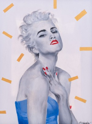 M. Hoshovska Madonna', oil, acrylic on canvas, 32x40
