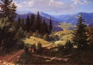 Долина ріки Уж, 1952, п.о. 95х134