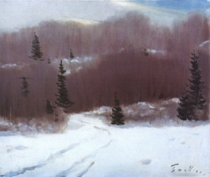 Forest Melody In Winter, 1961, 50x60