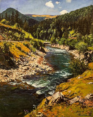 Mountain River, 1929, oil on canvas, 100.5x80.5