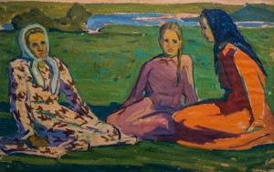 Girls. Etude, 1960, oil on paper, 54х82