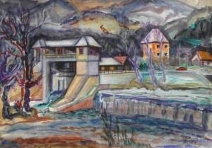 Невицьке, 1983, пап. акв., 43х62