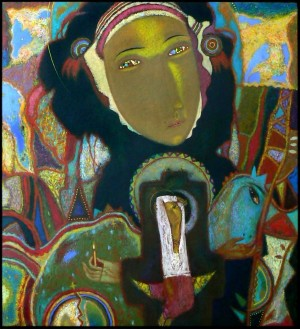 Карпатська Мадонна, 2007, т.двп, левкас, жовткова емульсія