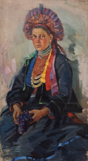 O. Shovkunenko Portrait Of Moldavian Girl', 1960s