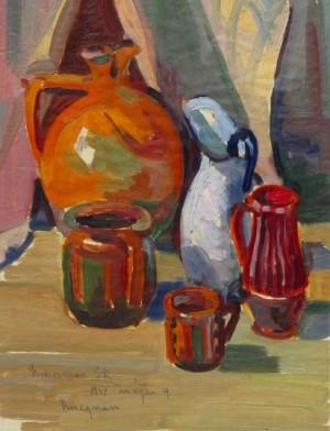 'Керамічний посуд', 1957, 31х25