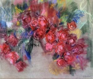 Still Life. Flowers,1940, paper, pastel, 56х76