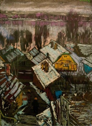 Yellow House, 1979, oil on canvas, 95x76