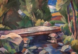 Під мостиком, 1993, к.о. 30х35