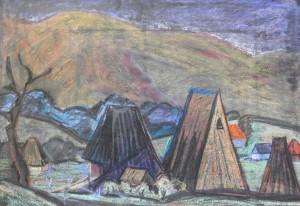 Осіння прохолода, 1983, пап. паст., 62х42