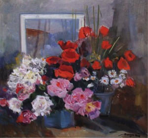 Домашні квіти, сер. 1970-х, п.о. 81х85
