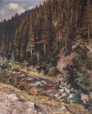 Mountain Stream, 1937, oil on canvas, 110.5x90