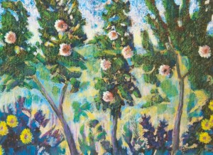 The Blooming Trees, 2005, pastel on cardboard, 60x80