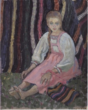 Girl From Tereshl Village, 1961, oil on cardboard, 51x43