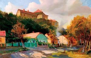 Вид на Ужгородський замок, 2005, п.о., 60х70