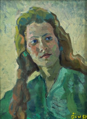 Female Portrait, 1958, oil on cardborad, tempera, 48,2х36