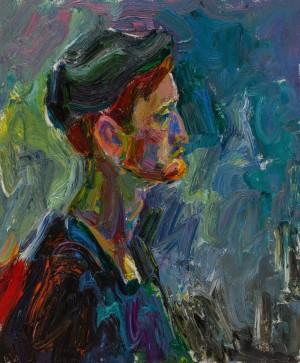 Valentyna Vaskialite. Portrait. 2017. 50х60