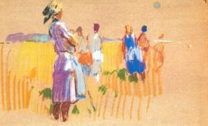 Жінки. Етюд, 1971, 21х33
