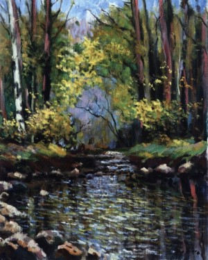 Forest Stream, 1984, 70x60
