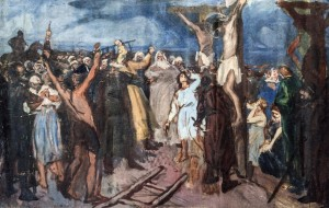 Calvary, 1940s, oil on canvas,80x122