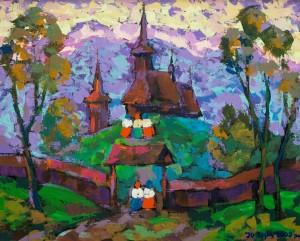 Fairytale Verkhovyna, 2002, tempera on canvas, 80x100