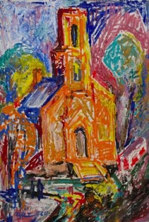 'Літо (вид з вікна)', 1964, 52.5х37.5