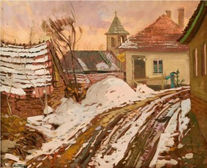 Snowy Street, 1979, oil on canvas, 76x95