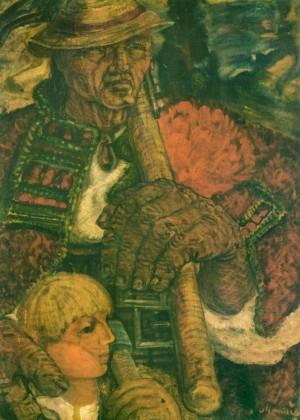Дідо з онуком, 1939, пап.карт.темп. 86х61