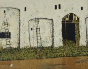 Канал. Жовта Вода, 2004, т.двп, левкас, жовткова емульсія