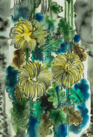 Yellow Flowers, 2003, watercolour on paper, 75x52