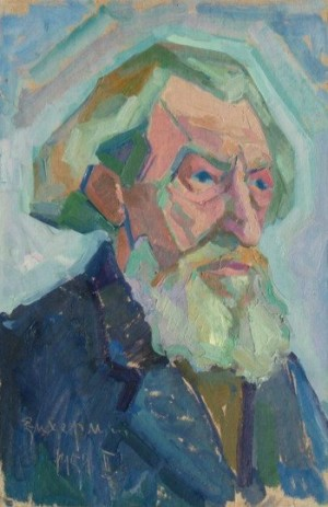 'Людина з бородою', 1954, 50х35