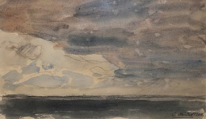 Untitled, 1908, watercolour on paper,  16,5х28