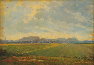 Fields On The Outskirts of  Uzhhorod, 1952, oil on canvas, 65х94,5