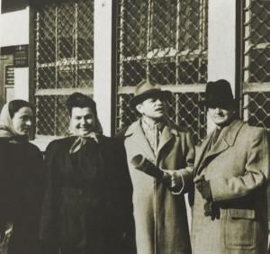 Y. Kremnytska, M. Slyvka (Erdeli), S. Marton, A. Erdeli, 1950