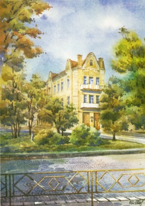House in Zhupanatska street,50 1996 watercolour