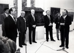 The opening of the joint exhibition with A. Kotska in Budapest, 1986 (From Y. Svyda)