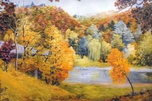'Scenery Of Nevetskyi Castle', 2000, oil on canvas, 75x117