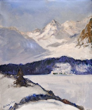 'View Of Poprad Lake', 1935, oil on canvas, 60x50.jpg