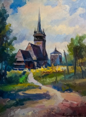 Церква в Данилові, 2016, п.о., 70х53